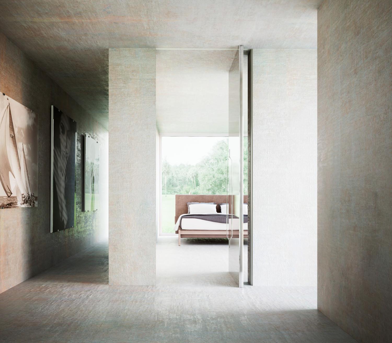 03.Brezza_Vertical-Pivot-door_metal and Glass-finish2